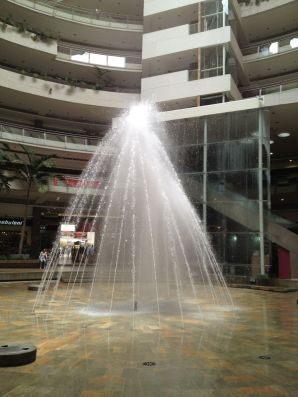 wasserspiele in der mall unicentro