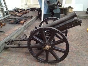 Kanone im Militärmuseum