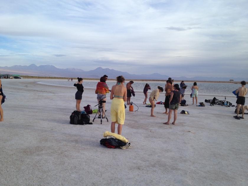 Baden in der Salzwüste, Laguna Cejar